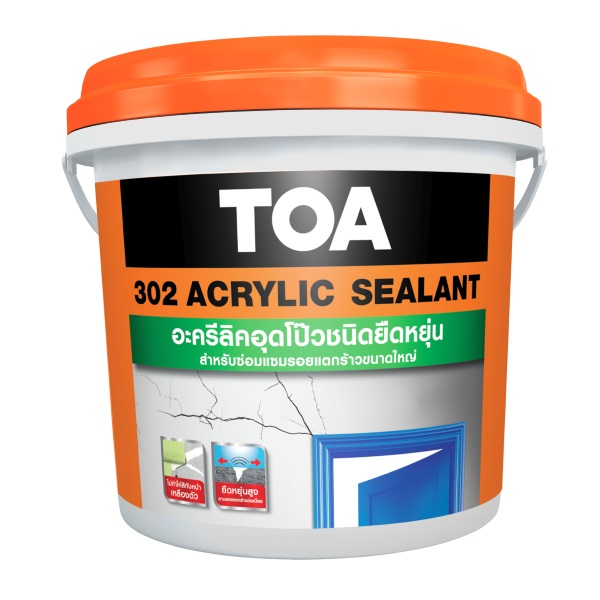 TOA 302 Sealant อะคริลิกอุดโป๊วชนิดยืดหยุ่น