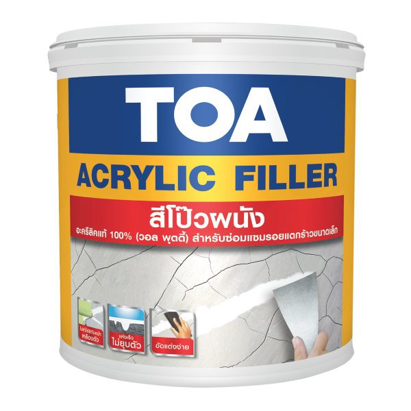 TOA Acrylic Filler สีโป๊วผนัง