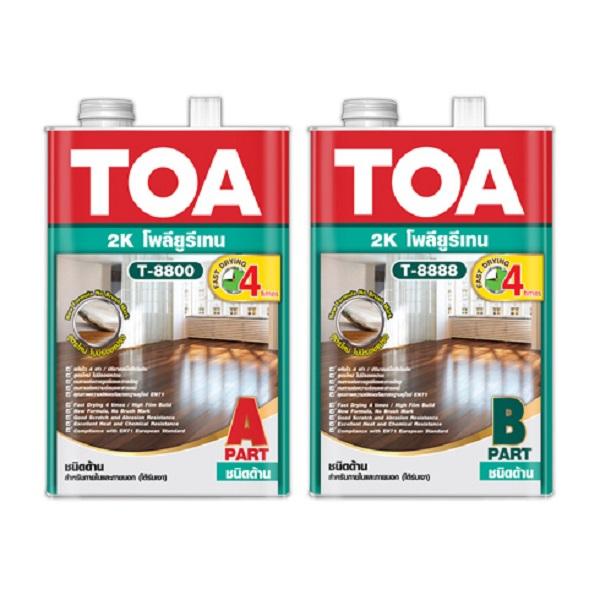 TOA Polyurethane 2K T8800-T8888 ภายใน ชนิดด้าน