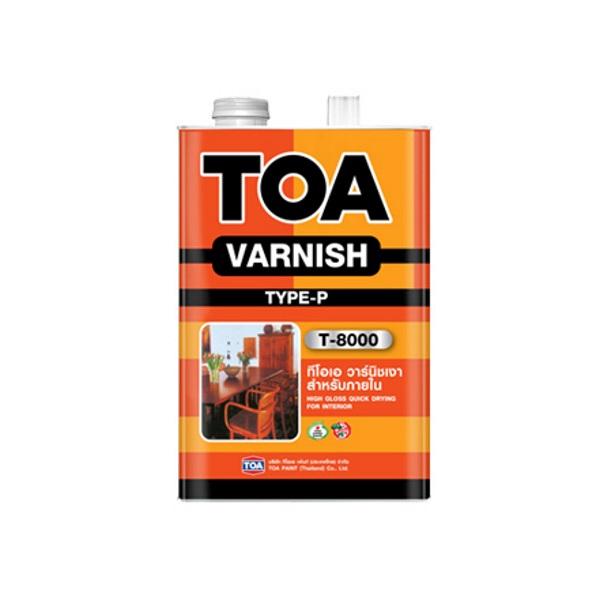 TOA VARNISH T-8000 ชนิดเงา สำหรับภายใน