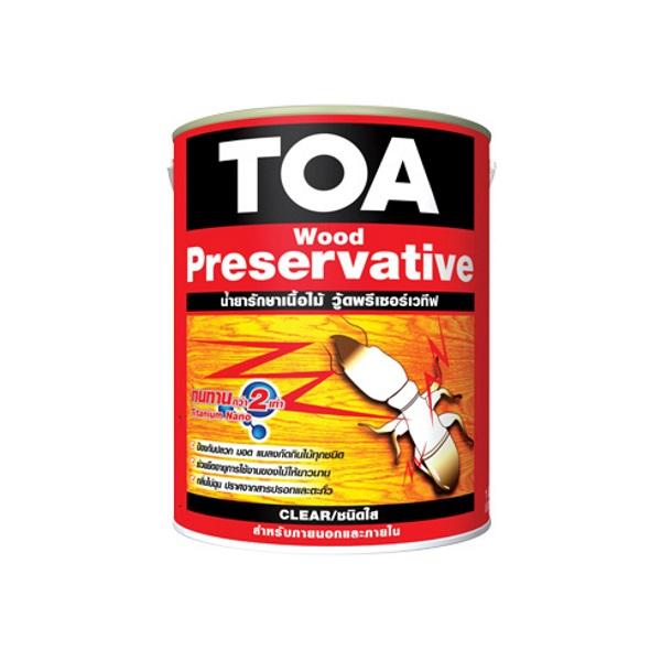 TOA Wood Preservative น้ำยารักษาเนื้อไม้ ชนิดใส