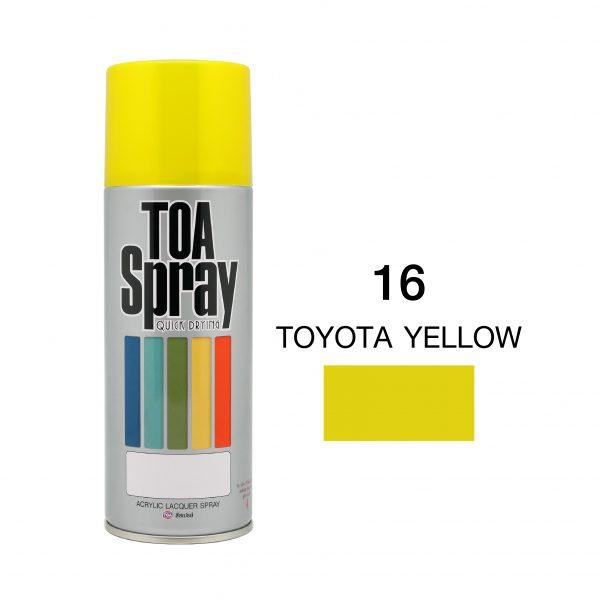 ทีโอเอ สเปรย์ อเนกประสงค์(16 toyota yellow)