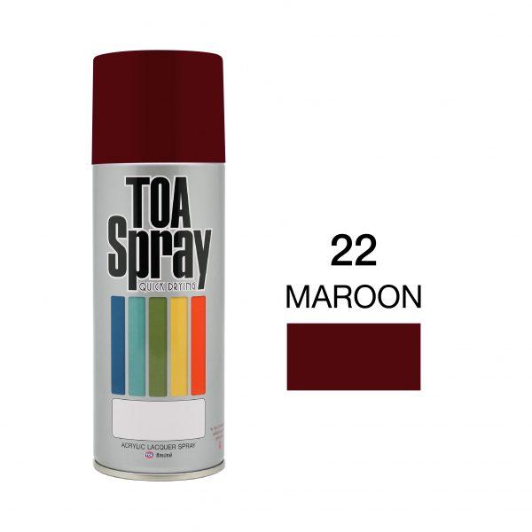 ทีโอเอ สเปรย์ อเนกประสงค์( 22 maroon )