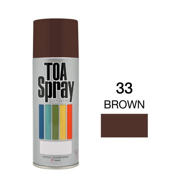 ทีโอเอ สเปรย์ อเนกประสงค์(33 brown)