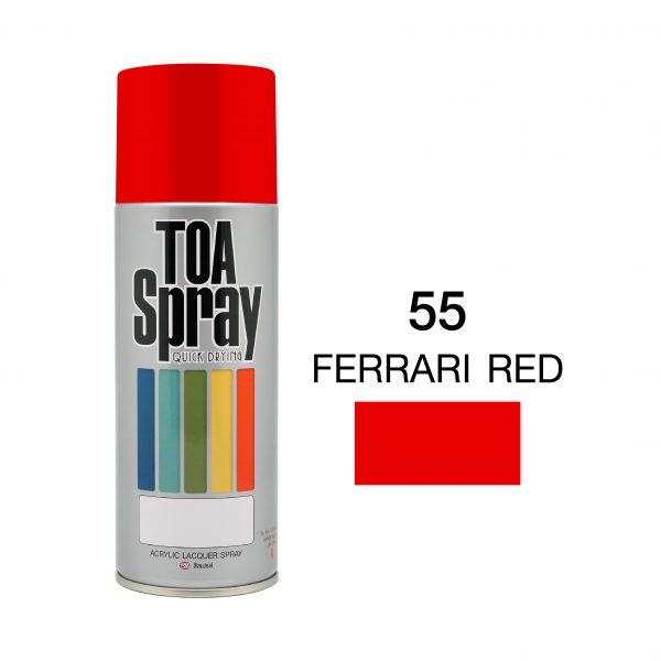 ทีโอเอ สเปรย์ อเนกประสงค์( 55 ferrari red )